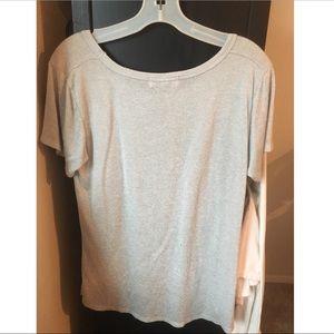 Tops - Gray Cat Tee Shirt